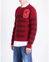 Raf Simons Waffle-knit Wool Jumper