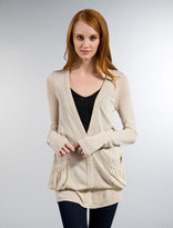 Loose Knit Jersey Oversized Cardigan