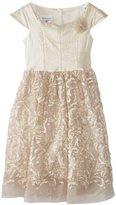 Bonnie Jean Girls 7-16 Cap-Sleeve Brocade Dress with Satin Bodice