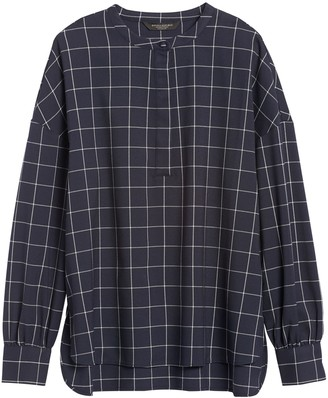 Banana Republic JAPAN EXCLUSIVE Oversized Flannel Banded-Collar Shirt