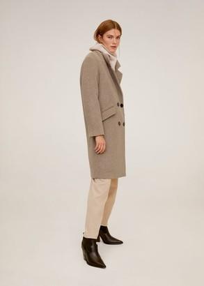 MANGO Lapels structured coat black - XS - Women