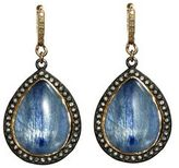 Armenta Midnight Pear Kyanite Drop Earrings with Diamonds
