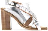 MM6 MAISON MARGIELA metallic studded sandals - women - Leather - 38