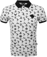 Just Cavalli All Over Print Polo T Shirt White