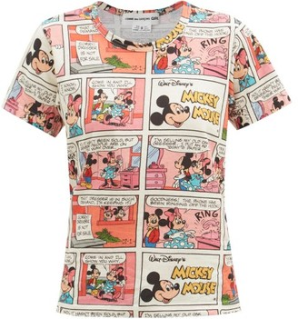 COMME DES GARÇONS GIRL Mickey Mouse Comic-print Cotton-jersey T-shirt - Multi