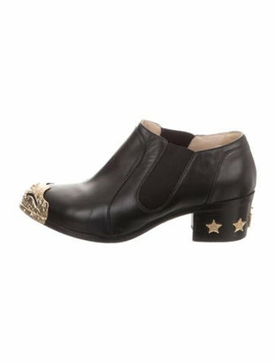 Chanel Paris-Dallas Embellished Booties Black