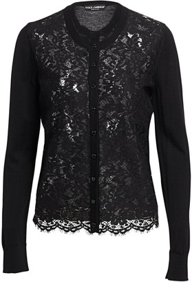 Dolce & Gabbana Lace Front Cardigan