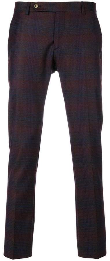 Entre Amis patterned cropped trousers