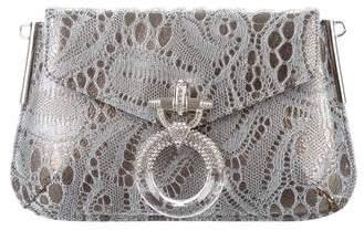 Judith Leiber Embellished Brocade Clutch