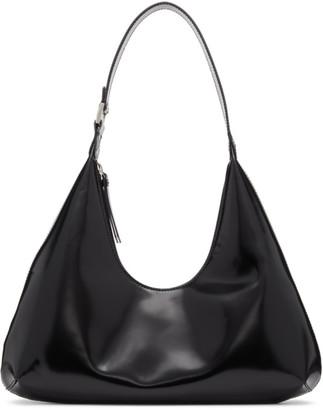 BY FAR Black Patent Amber Bag