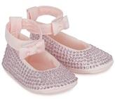 MonnaLisa Diamante Ankle Strap Crib Shoes