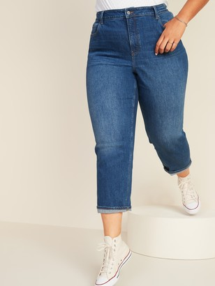 Old Navy Extra High-Waisted Secret-Slim Pockets Sky-Hi Straight Plus-Size Jeans