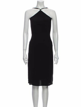 Reformation Halterneck Midi Length Dress Black