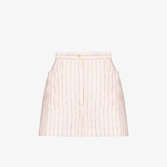Three Graces Osmo Striped Linen Shorts