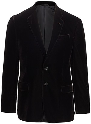 Giorgio Armani Stretch Velvet Suit Jacket