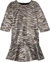 Kenzo Tiger stripe metallic finish dress 4-16 years