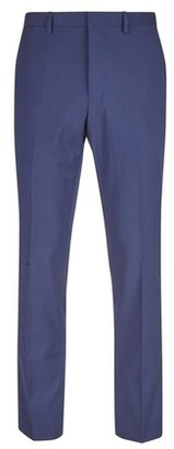 Dorothy Perkins Womens **Burton Midnight Blue Skinny Fit Stretch Suit Trousers, Blue
