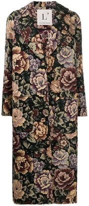 L'Autre Chose Floral Trench Coat