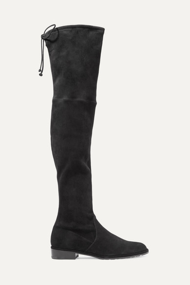 Stuart Weitzman Lowland Suede Over-the-knee Boots - Black