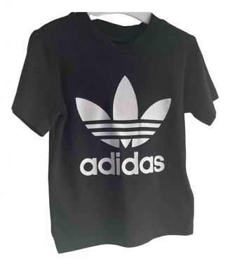 adidas Black Cotton Tops