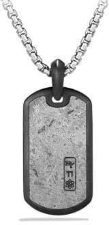 David Yurman Meteorite Collection Inlay Dog Tag