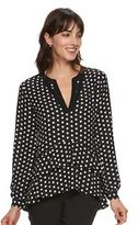 Elle Women's ELLETM Polka-Dot Tiered Top