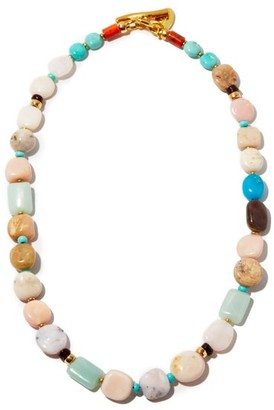Lizzie Fortunato Heroine Gemstone & Gold-plated Necklace - Multi