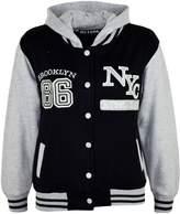 a2z4kids Kids Girls Boys Baseball NYC ATHLETIC Hooded Jacket Varsity Hoodie Age 7-13 Year