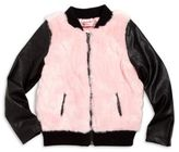 Design History Toddler's & Little Girl's Faux Fur Bomber Jacket