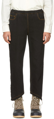 St Henri St-Henri SSENSE Exclusive Black Rock Elastic Jeans