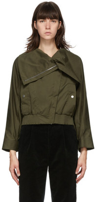 3.1 Phillip Lim Green Stand Collar Jacket