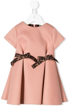 Fendi pleated A-line dress