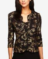 Alex Evenings Petite Metallic Scroll-Print Jacket & Shell