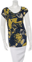 Piazza Sempione Printed Short Sleeve Top