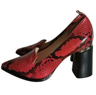 Nicholas Kirkwood Red Leather Heels