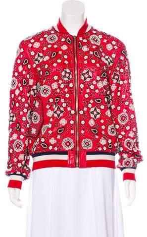 Michel Klein Embellished Leather Jacket