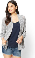 New York & Co. Open-Front Ribbed-Knit Cardigan