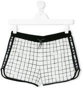 DKNY check track shorts - kids - Cotton - 14 yrs