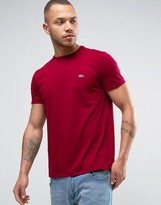 Lacoste Small Logo T-Shirt Regular Fit Pima Jersey in Bordeaux