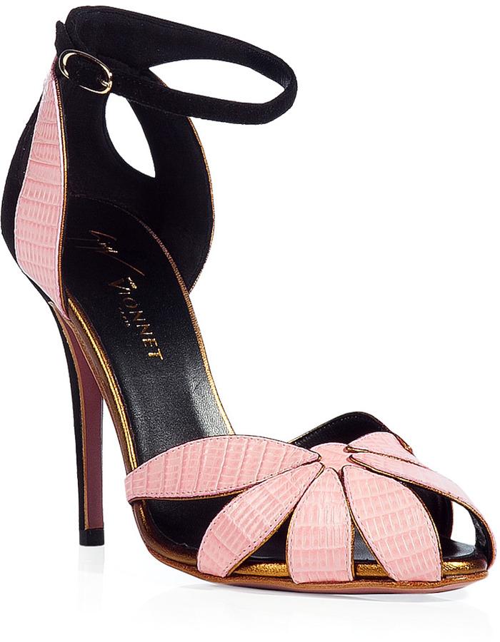 Vionnet Rose/Gold Leather Sandals