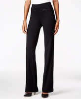 Style&Co. Style & Co. Faux-Leather-Trim Trousers, Only at Macy's