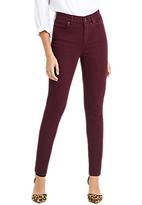 Oasis Lily Stiletto Skinny Ankle Grazer Jeans, Burgundy
