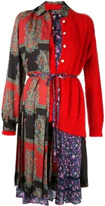 Junya Watanabe Cardigan Floral Midi Dress