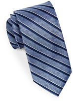 Black Brown 1826 Multi-Striped Silk Tie