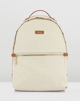 Lipault Paris - Women's White Backpacks - Novelty Collection Linen Backpack Small - Size One Size at The Iconic