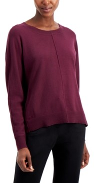 Alfani High-Low Dolman-Sleeve Sweater, Created for Macy's