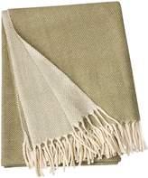 Linum Bogart Hand-Woven Wool Throw W/ Fringe