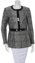 Giorgio Armani Faux Patent-Trimmed Brocade Jacket w/ Tags