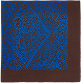 Barneys New York Men's Vine-Pattern Silk Pocket Square