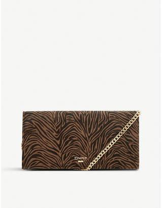 Dune Briar tiger-print clutch bag